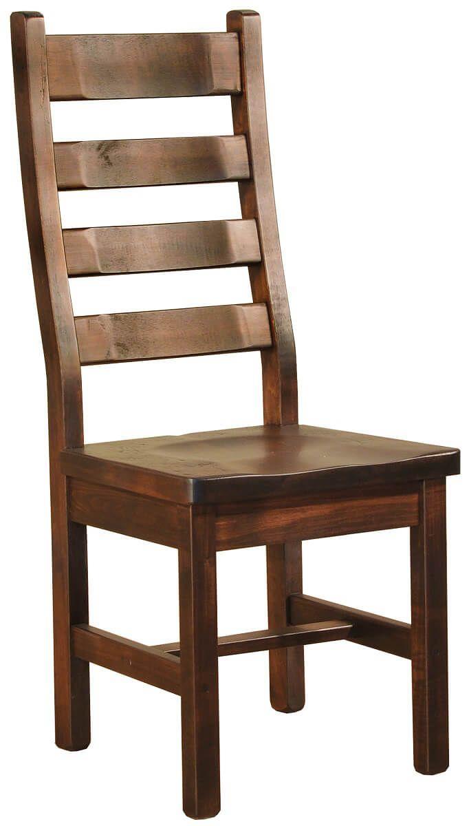 Rough Sawn Ladder Back Side Chair