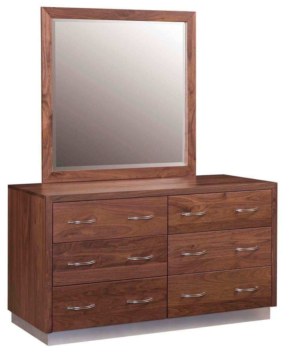 Midori Platform Dresser with Mirror