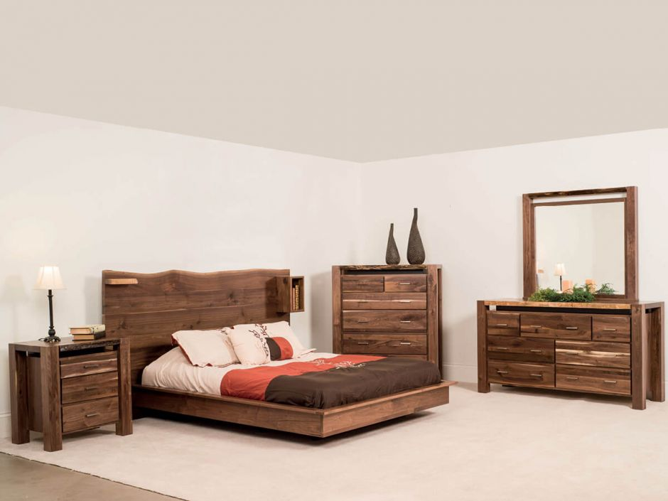 Phoenix Live Edge Bedroom Set - Countryside Amish Furniture