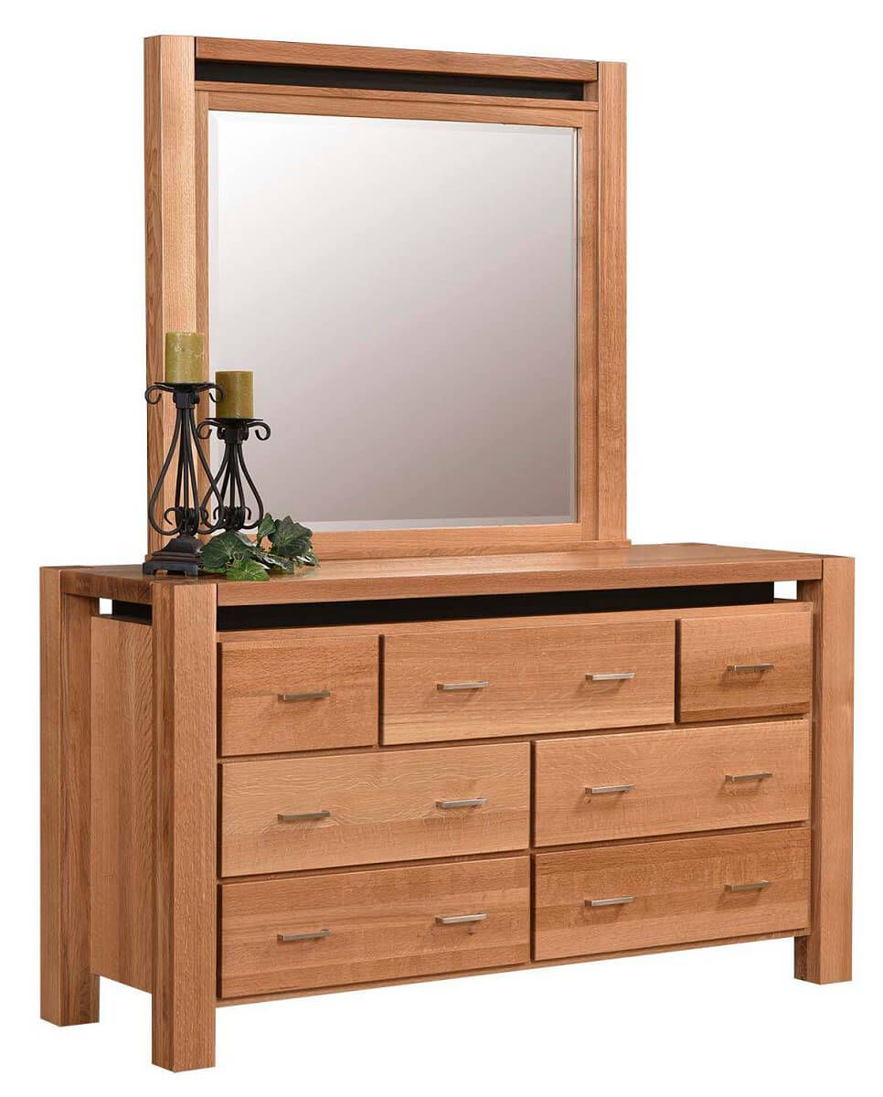 Anastasia Contemporary Dresser with Mirror