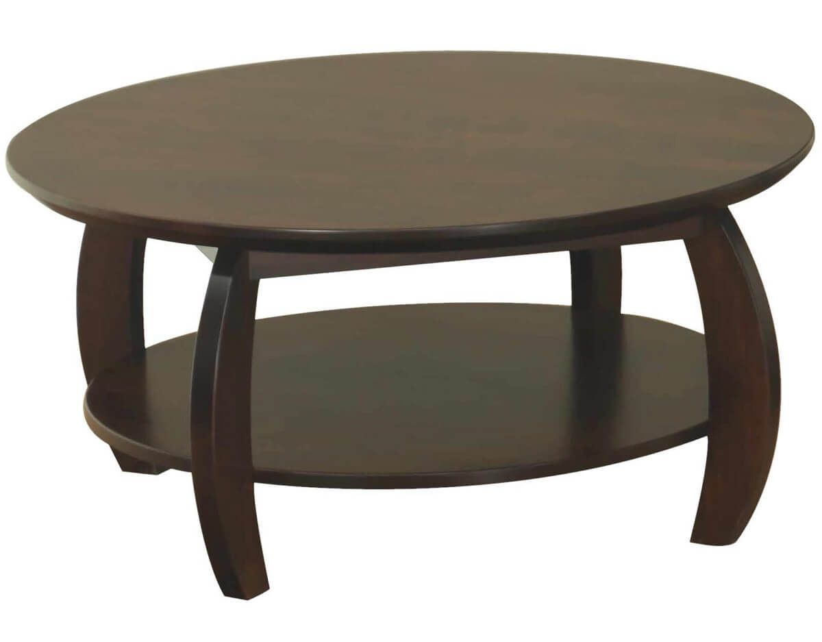 Bromley Round Coffee Table in Brown Maple
