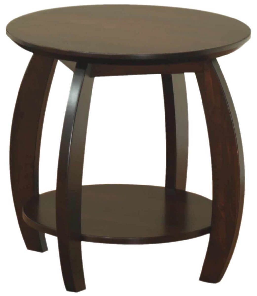 Bromley Round End Table in Brown Maple