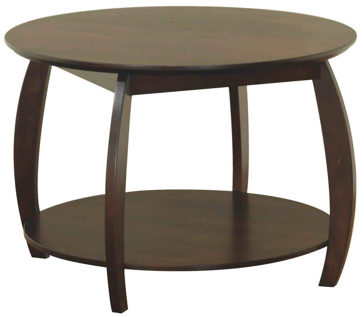 Bromley Round Console Table in Brown Maple