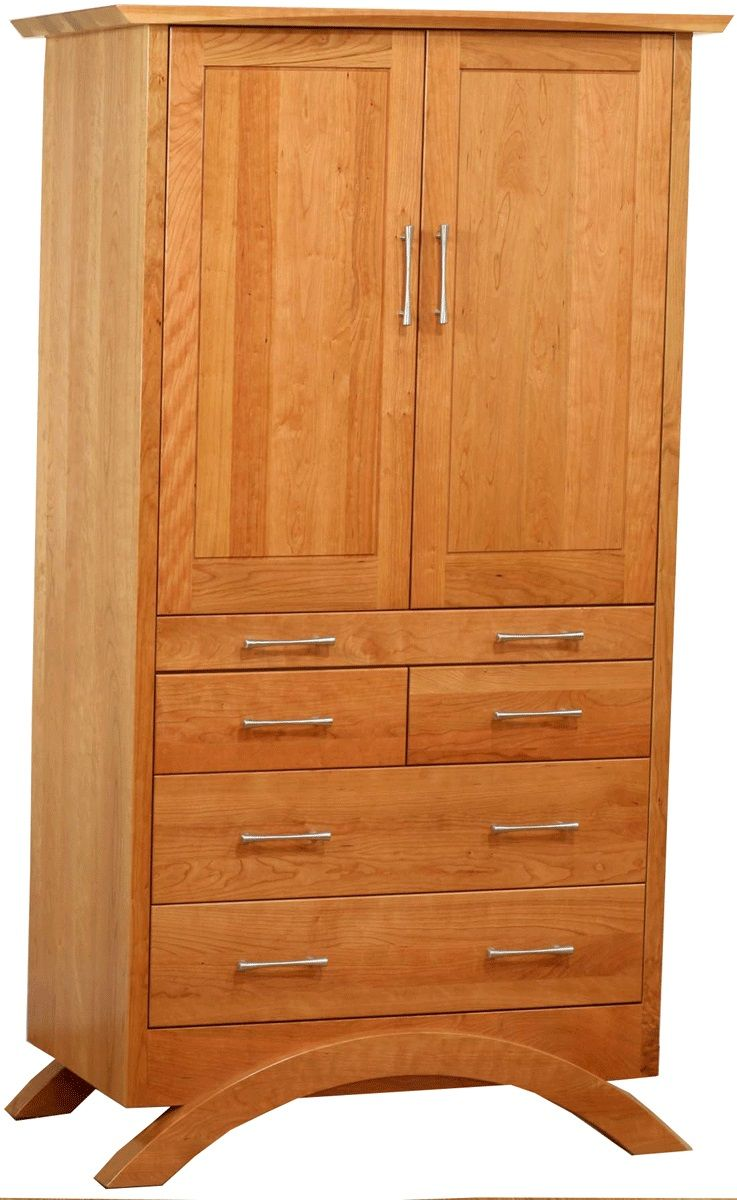 Neo Modern Armoire in Natural Cherry