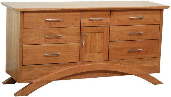 Neo Bedroom Dresser in Solid Cherry
