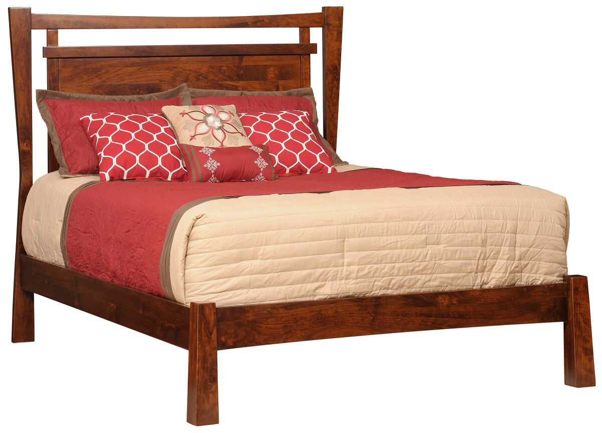 Anacapa Rustic Cherry Panel Bed