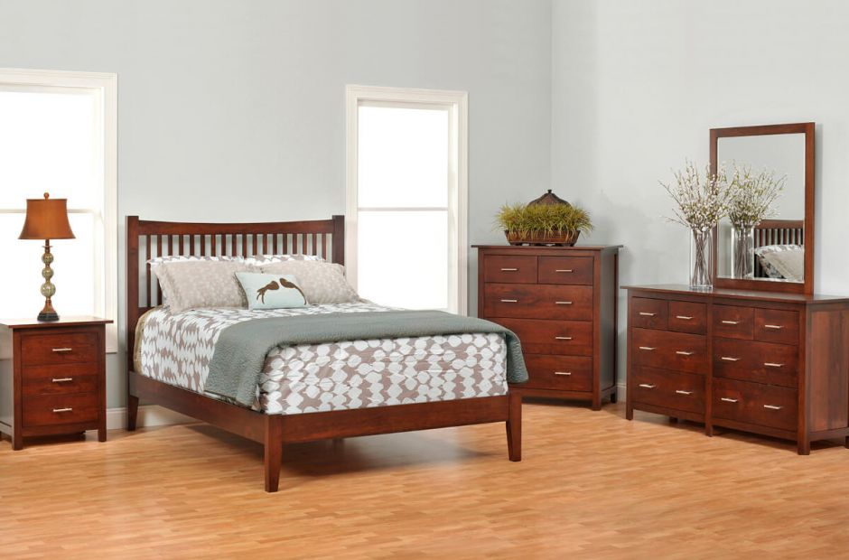 Austin bedroom furniture set countryside amish furniture - Beautiful snooze bedroom suites packing comfort in style ...
