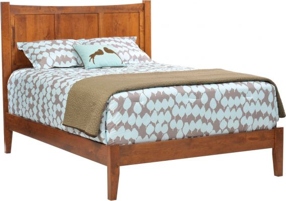 Austin Solid Wood Panel Bed
