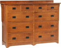 Barcelona 10-Drawer High Dresser