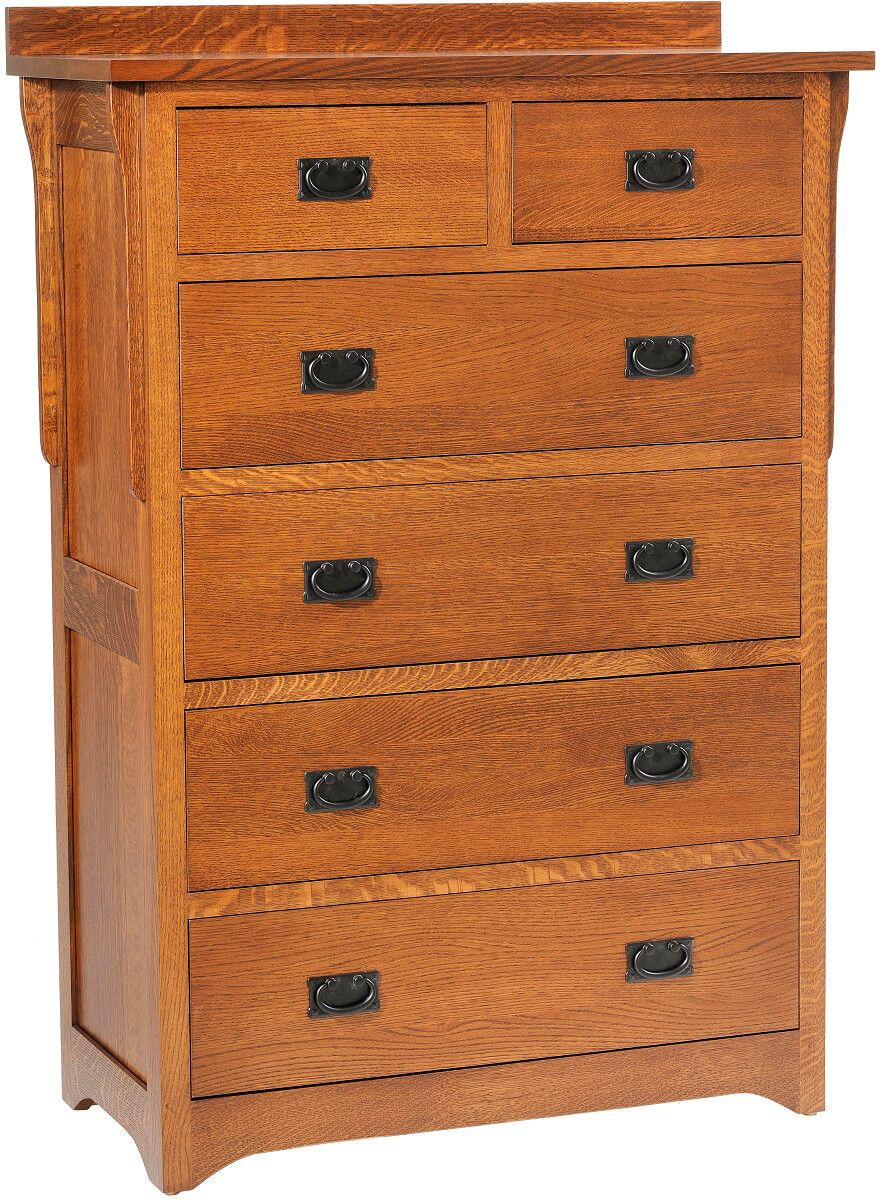 Barcelona Oak Mission Chest of Drawers
