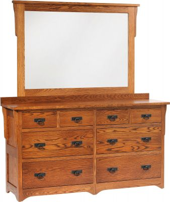Barcelona Mission Dresser with Mirror