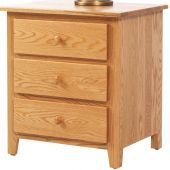 Brentwood 3-Drawer Nightstand