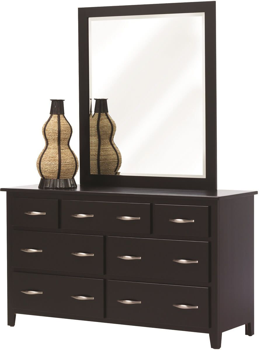 Brentwood Black Dresser with Mirror
