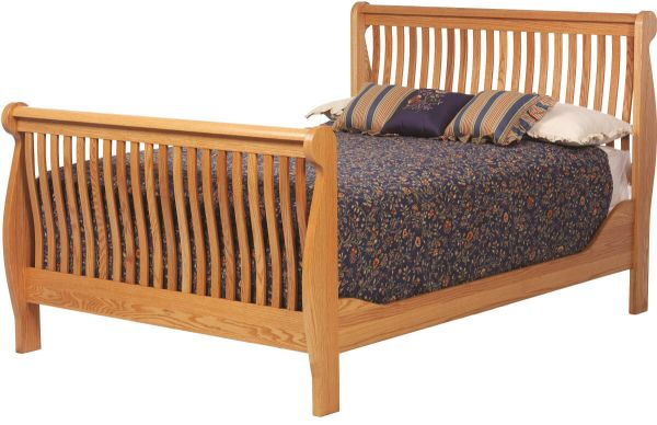 Brentwood Oak Sleigh Bed