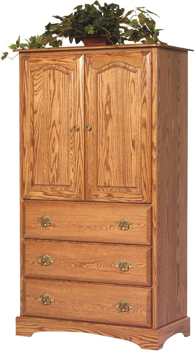 Cambridge Solid Wood Armoire in Oak