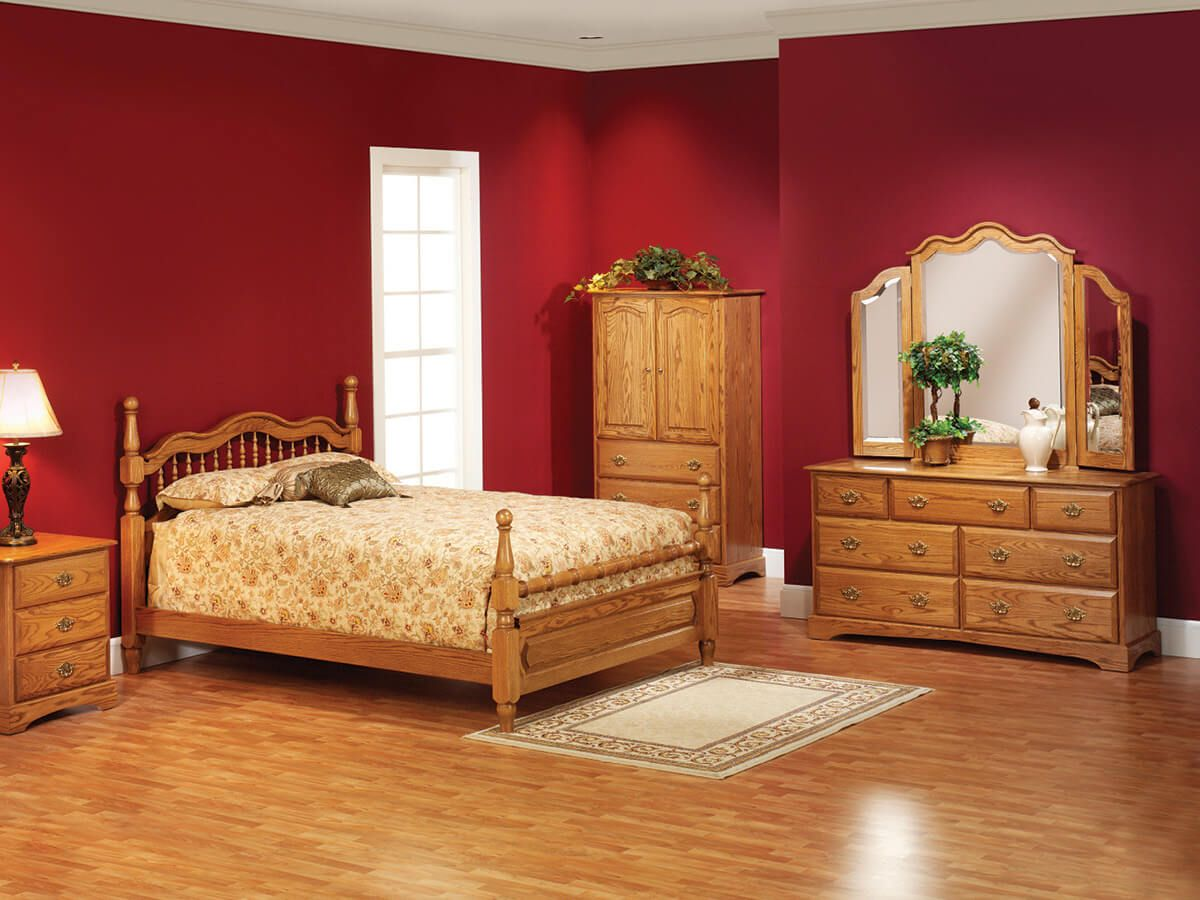 Cambridge Oak Bedroom Furniture Set