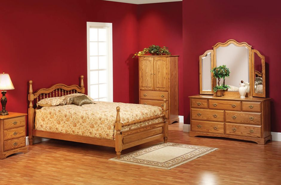 cambridge bedroom set image 1 - Oak Bedroom Sets