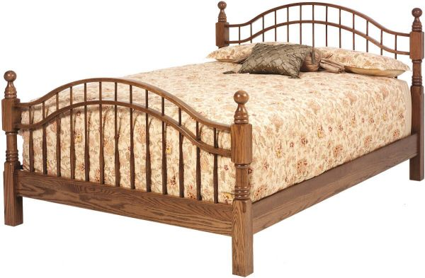 Solid Wood Spindle Bed