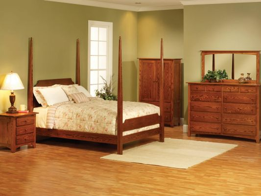 Cascade Locks Oak Bedroom Furniture Set