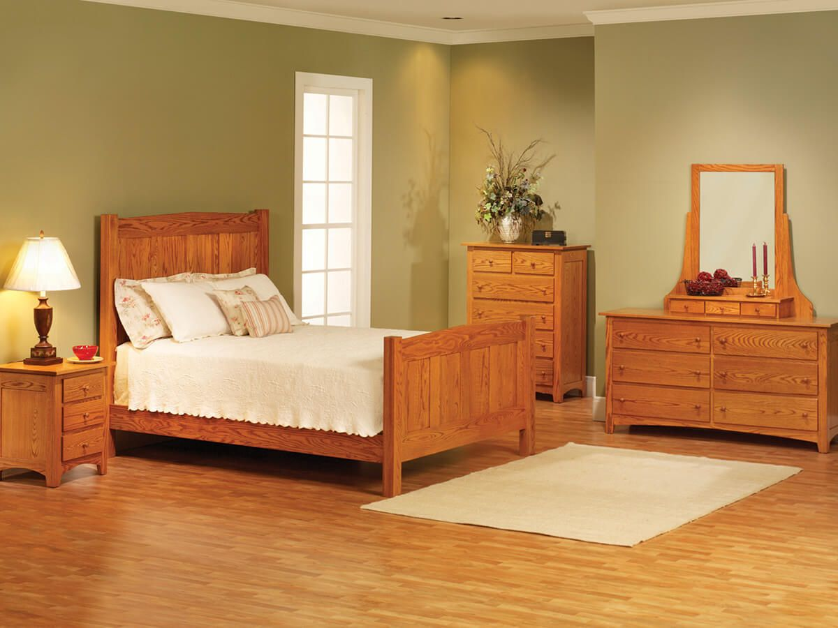 Shaker Oak Bedroom Collection