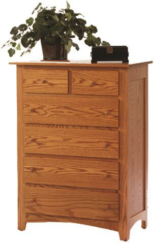 Cascade Locks Solid Wood Chest of Drawers