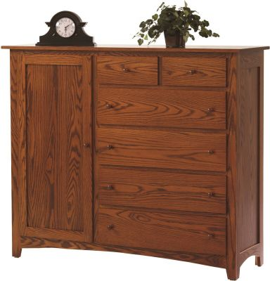 Cascade Locks Door Chest in Solid Oak