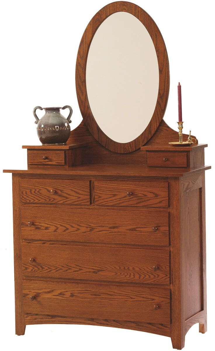 Cascade Locks Dressing Chest with Oval Mirror