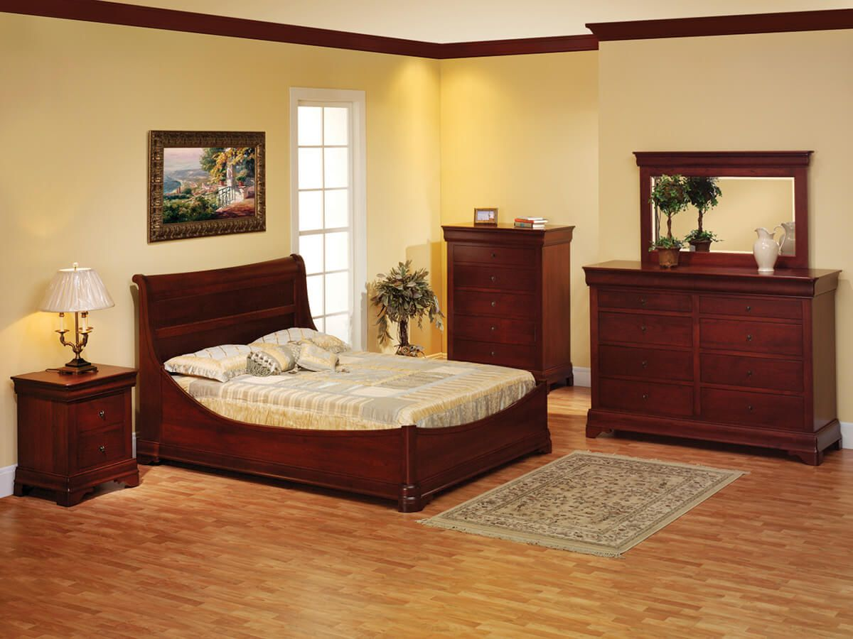 Charlemagne Solid Wood Bedroom Set