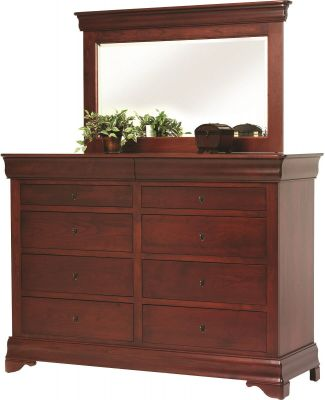Charlemagne High Dresser with Mirror