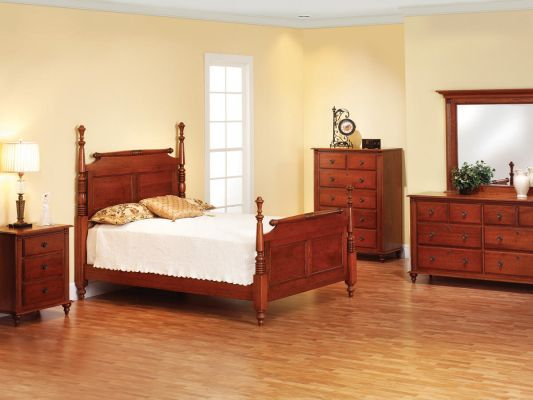 Clair de Lune Cherry Bedroom Furniture Set