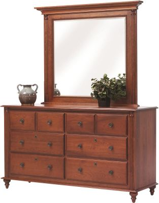 Clair de Lune Cherry Dresser with Mirror