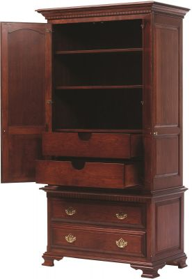Elizabeth's Tradition 2-Piece Tall Armoire - Open