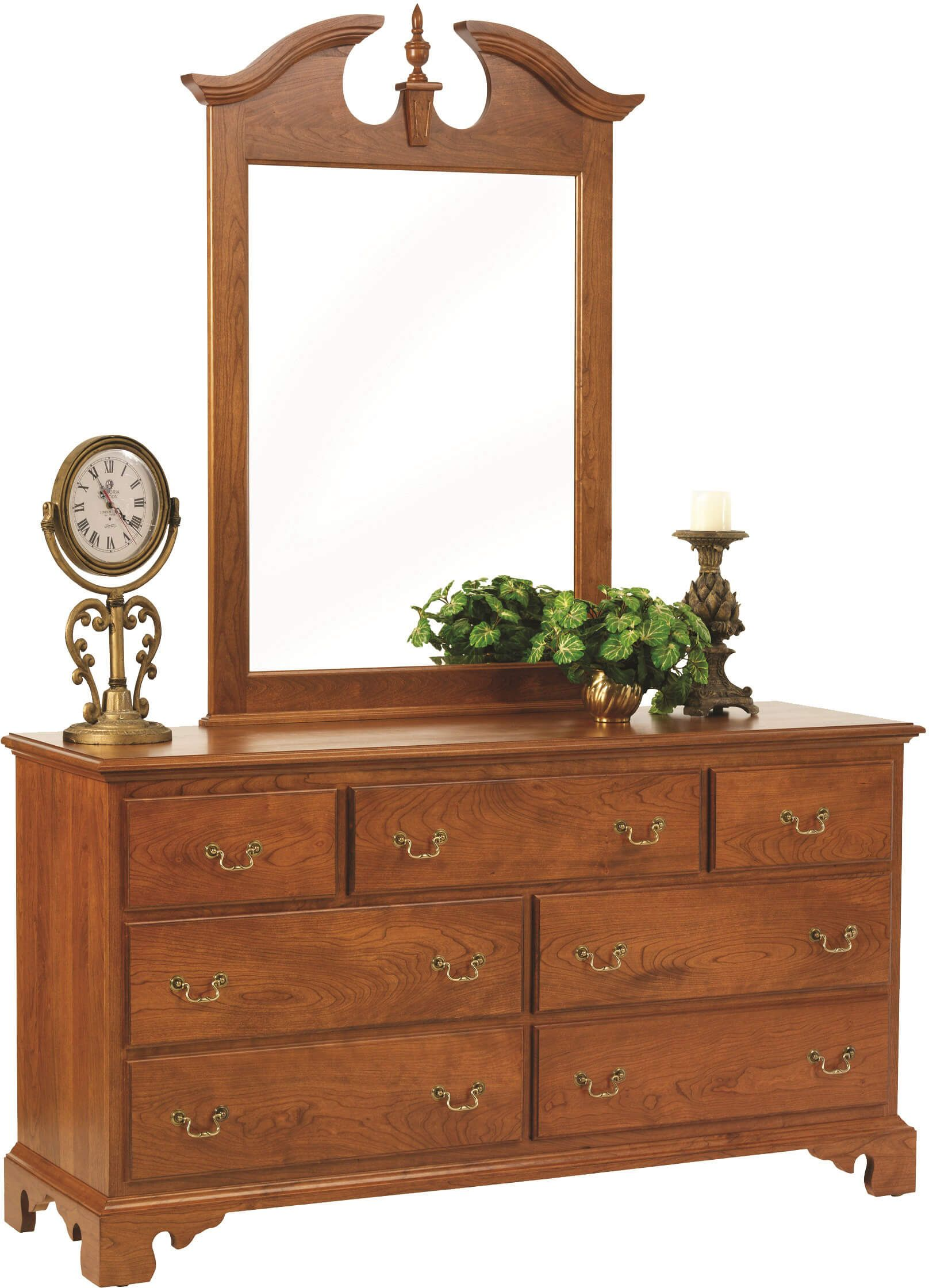 Fairmount Heights Dresser with Mirror in Cherry