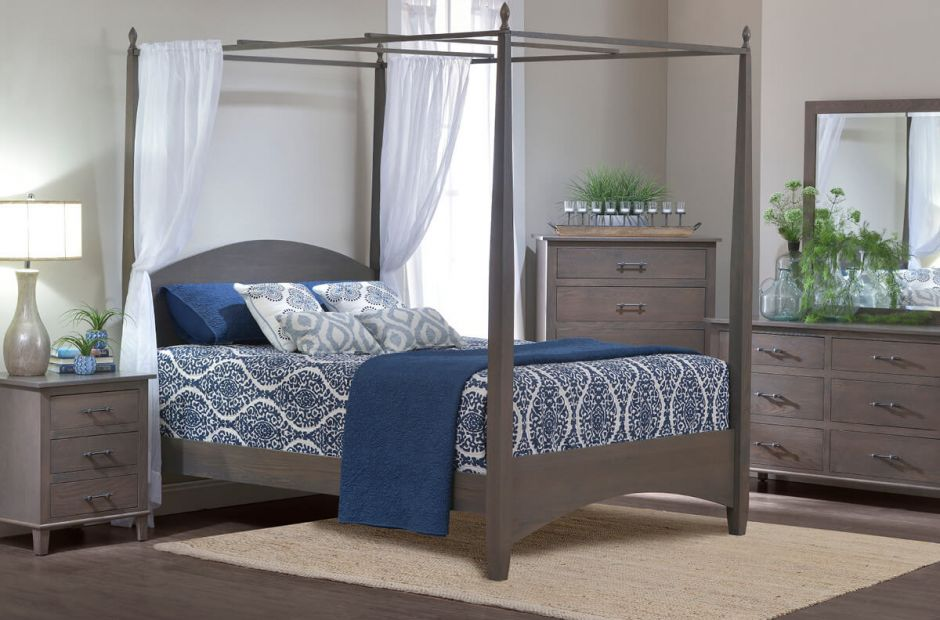 Lyons Canopy Bed Bedroom Set Countryside Amish Furniture