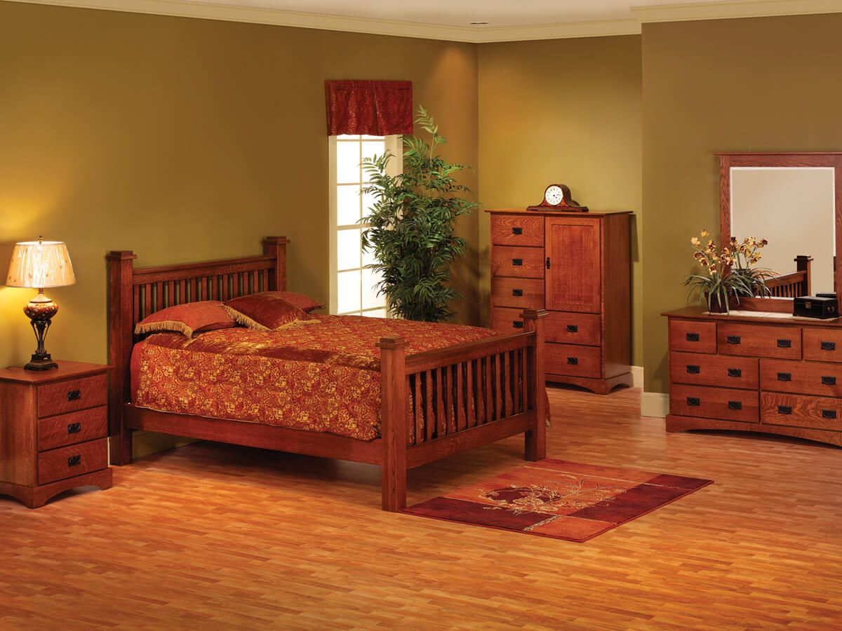 Mission Hills Antique Bedroom Set