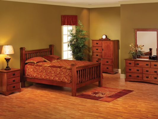 Mission Hills Amish Bedroom Furniture Set