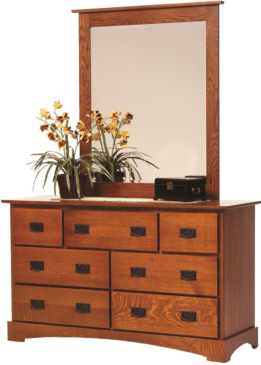 Mission Hills Mirror Dresser in Oak