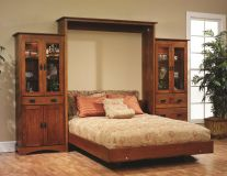 Mission Hills Murphy Bed with Bookcase