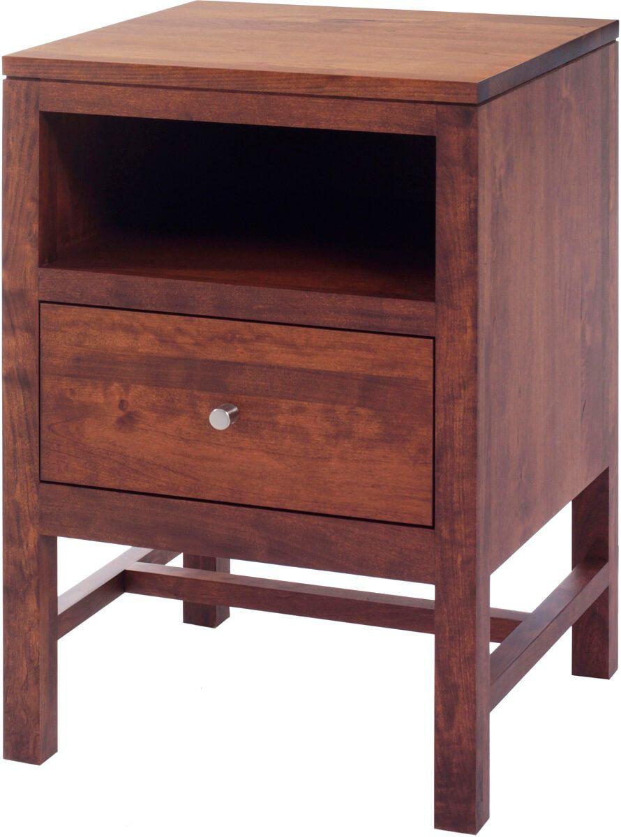New Lebanon 1-Drawer Solid Wood Nightstand