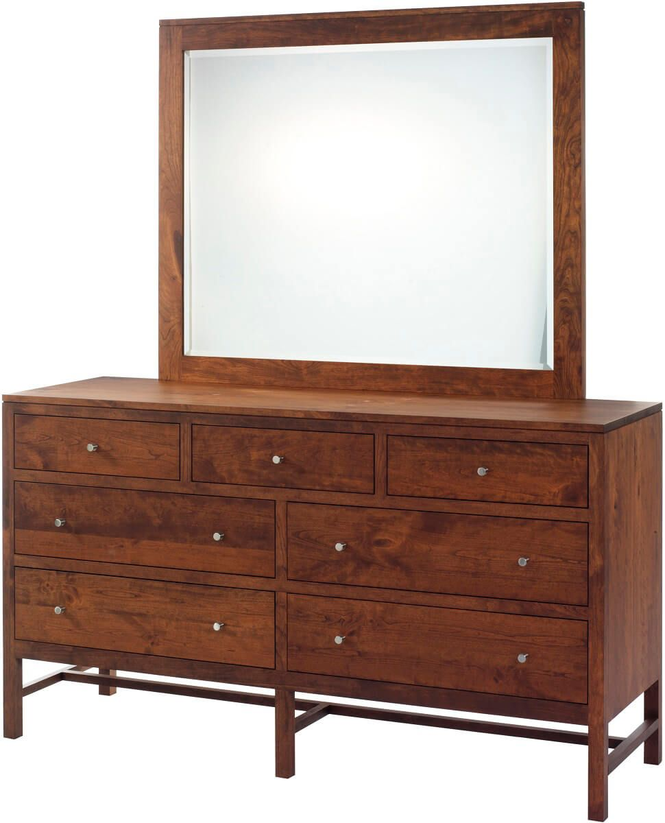 New Lebanon Low Dresser with Mirror