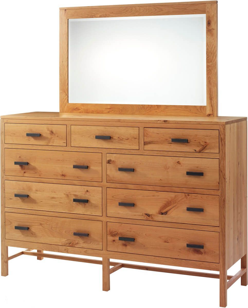 New Lebanon 9-Drawer High Dresser with Mirror