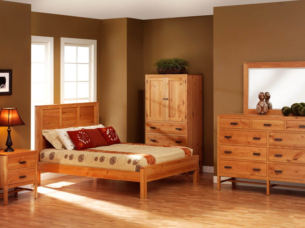 Rustic Cherry Bedroom Furniture