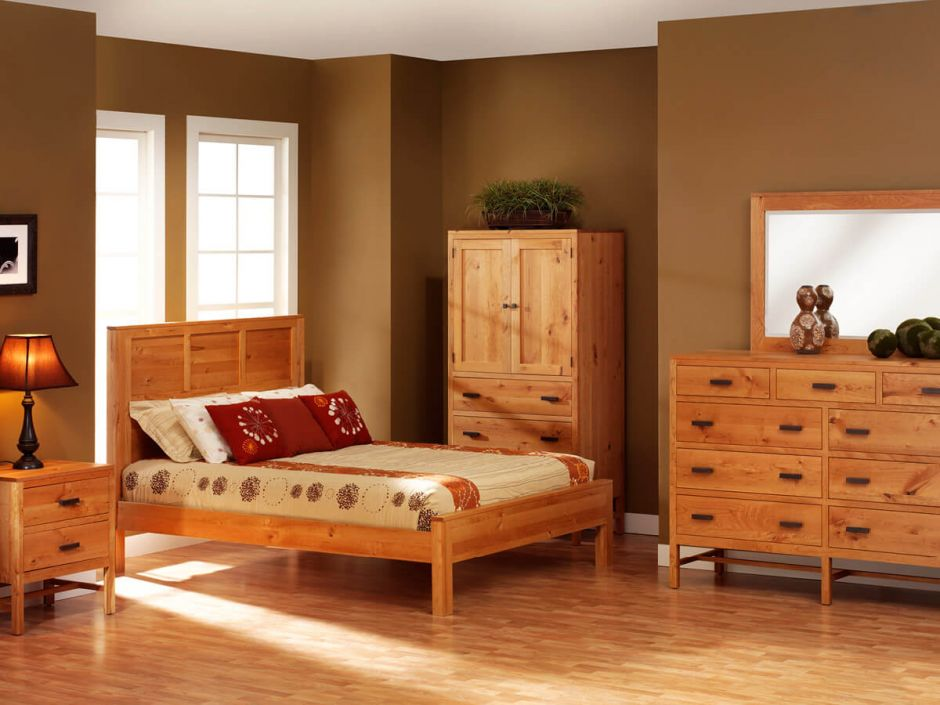 New lebanon rustic cherry bedroom set countryside amish for American furniture catalog 2015