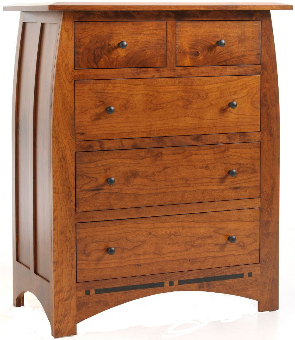 Chest Of Drawers : Amish Vineyard Solid Wood Chest of Drawers
