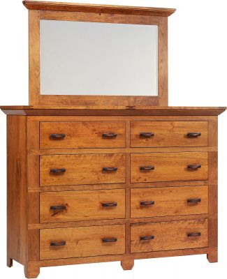 Roswell Rustic Dresser with Mirror
