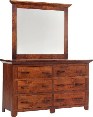 Roswell Low Dresser with Mirror