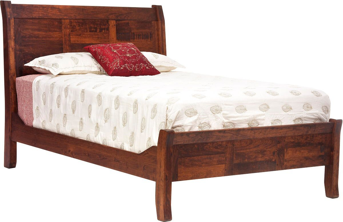 Roswell Rustic Cherry Sleigh Bed