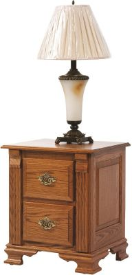 Seneca Creek 2-Drawer Nightstand in Solid Oak