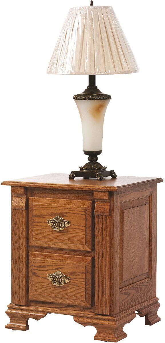 Seneca Creek 2-Drawer Nightstand in Solid Oak