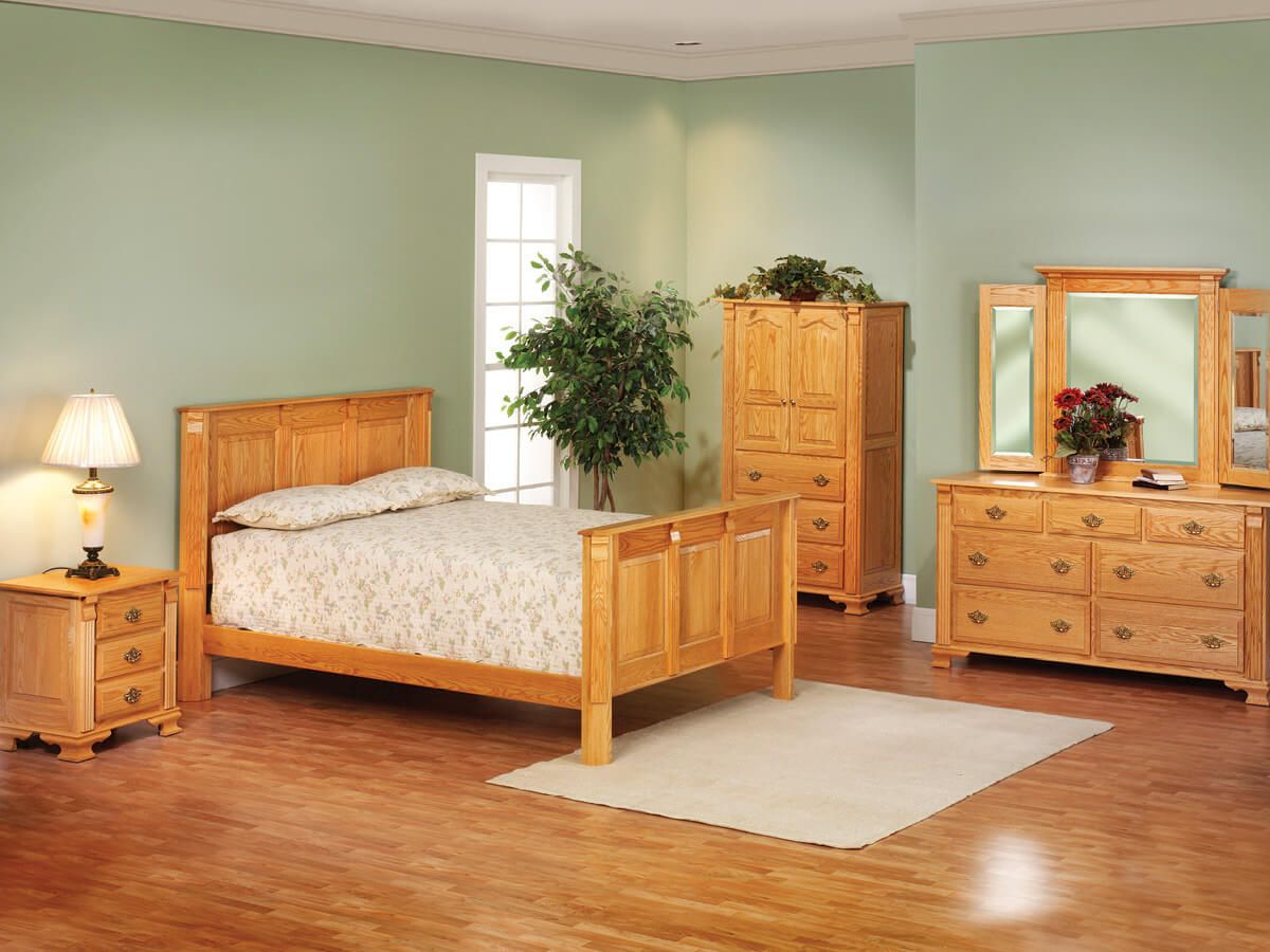 Seneca Creek Oak Amish Bedroom Collection